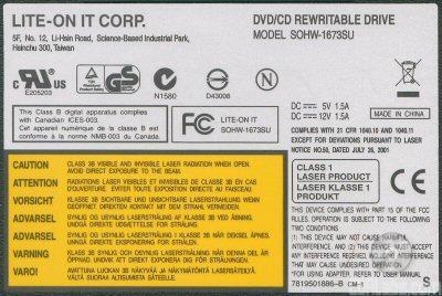 LITE-ON DVDRW SOHWS ATA Device - drivers for windows 7 FOUND