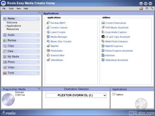 CDRLabs.com - Software Bundle - Plextor PX-810UF 18x FireWire/USB 2.0 DVD±RW/RAM - Reviews