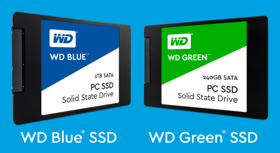 wd blue green ssd