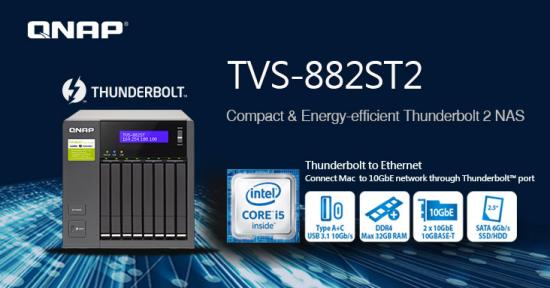 CDRLabs com - QNAP Releases TVS-882ST2 Thunderbolt 2 NAS - News