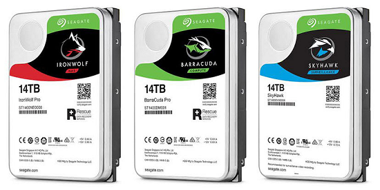 seagate 14TB hard drives