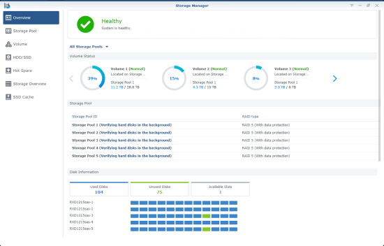 synology dsm storage manager