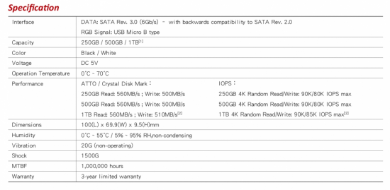 team group t force delta rgb ssd specs