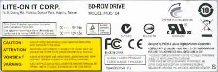 CDRLabs com - Features - Lite-On iHOS104 4x BD-ROM - Reviews