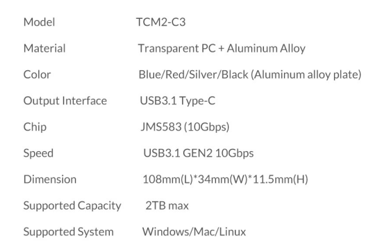 CDRLabs com - ORICO Transparent NVMe M 2 SSD Enclosure - Reviews