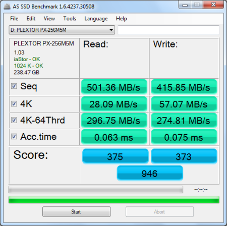 Jun '13 AS SSD Benchmark Score
