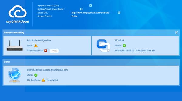 CDRLabs com - myQNAPCloud - QNAP TAS-268 QTS-Android Combo NAS - Reviews