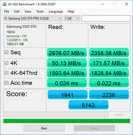 CDRLabs com - Performance - AS SSD and HD Tune - Samsung 970