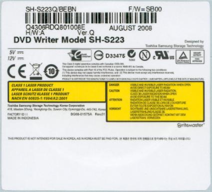 драйвер dvd sh-s222a