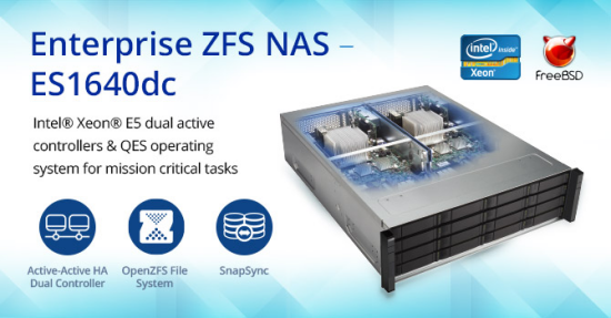 Qnap launches enterprise zfs nas es1640dc news for Zfs pool design
