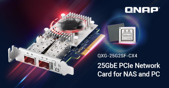 qnap 25GbE PCIe network card