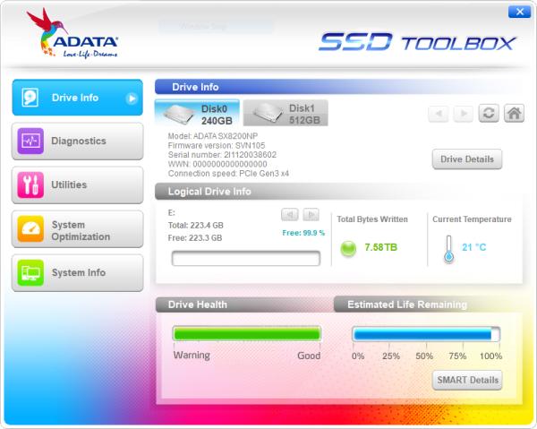 CDRLabs com - ADATA XPG SX8200 240GB PCIe M 2 Solid State