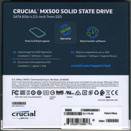 CDRLabs com - Crucial MX500 500GB Solid State Drive - Reviews - all